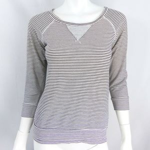 Madewell Hi-Line striped fleece Small